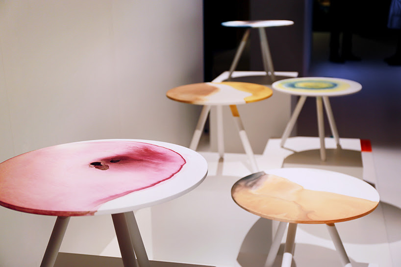 takt project dye it yourself plastic table collection TDW designboom