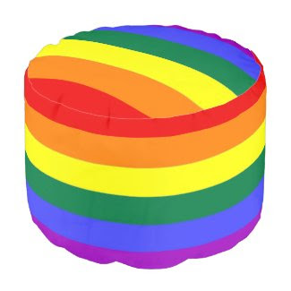 LGBT Gay Pride Rainbow Flag Round Pouf