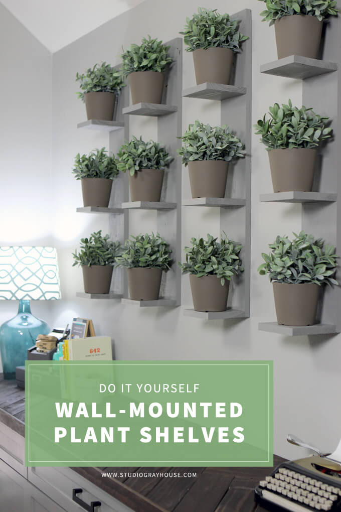 Wall Mounted Plant Shelves Diy Gray House Studio
