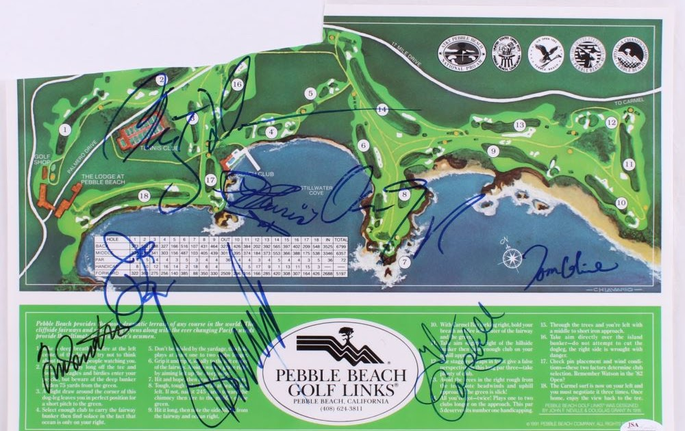 Pebble Beach Golf Course Layout Map