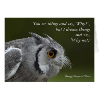 Card with Quote - Baby Grey Owl