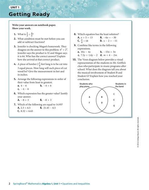 Free PDF springboard-algebra-1-answer-key Kindle Editon ...