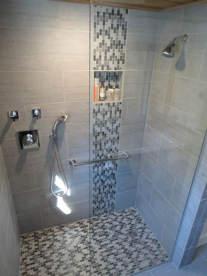 39 grey mosaic bathroom floor tiles ideas and pictures