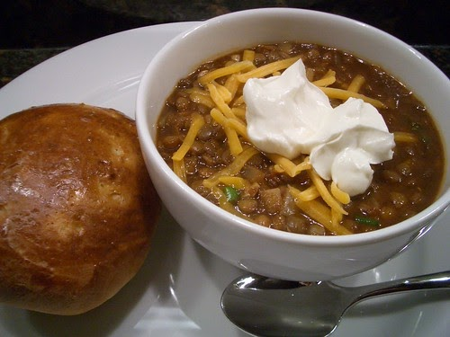 A Good Appetite: Lentil Chili with Cumin & Green Onions