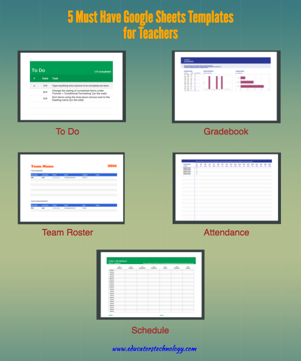5 Must Have Google Sheets Templates for Teachers