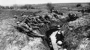 Trincchera alemana en la primera guerra mundial