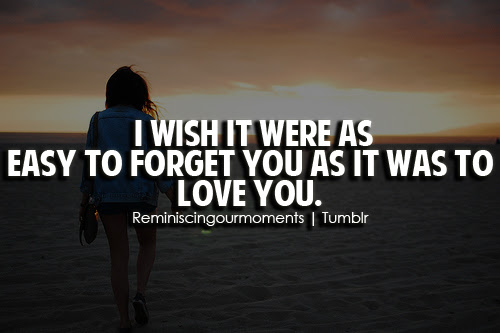 I Wish It Were As Easy To Forget You As It Was To Unknown