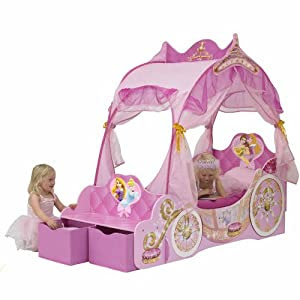 HSB Value+ Bundle] Disney Princess Carriage Bed with MF® Chenille ...