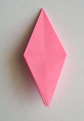 4 kite points folded down