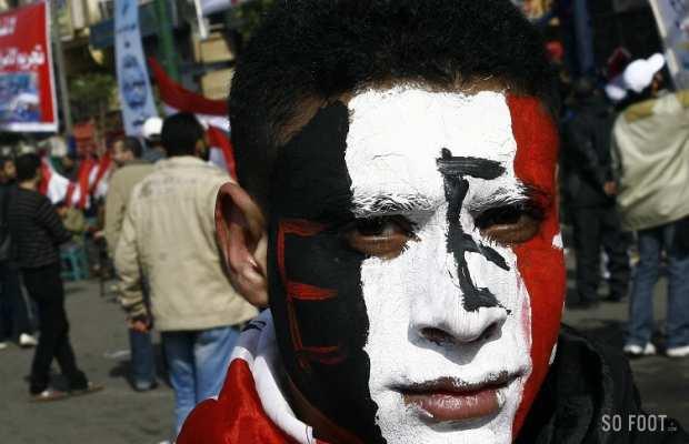 Manifestant présent pour le 1er anniversaire de la Revolution egyptienne - Place Tahrir