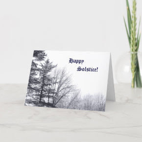 Snow-covered Trees: Horizontal Card
