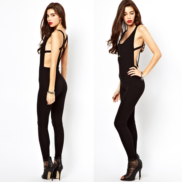 New look kohl's Spaghetti Strap Exposed Navel Plain One Piece ads