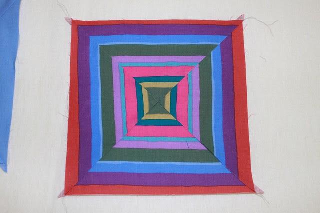 Wonky squares quilt - the design process