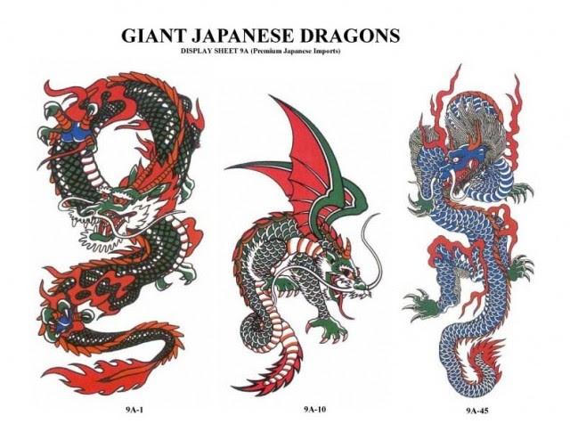 Dragon Skeleton Tattoo Design