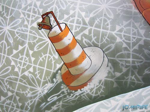 Arte Urbana by Mário Belém - Peixe laranja/Imaginário no CAE na Figueira da Foz Portugal - Elemento bóia de mar (13) [en] Urban art by Mário Belém - Orange Fish/Imaginary in Art Center Figueira da Foz, Portugal
