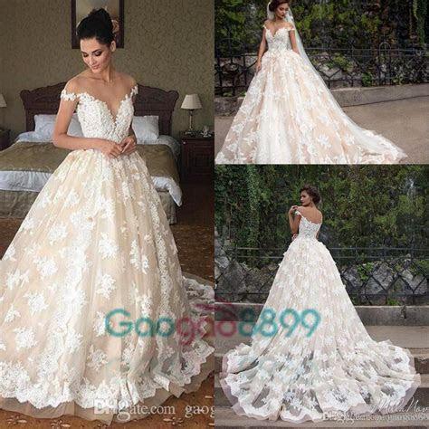 Discount 2017 Lace Applique Princess Country Wedding
