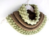 Milk Chocolate Brown and Mint Green Cowl - Yanettine
