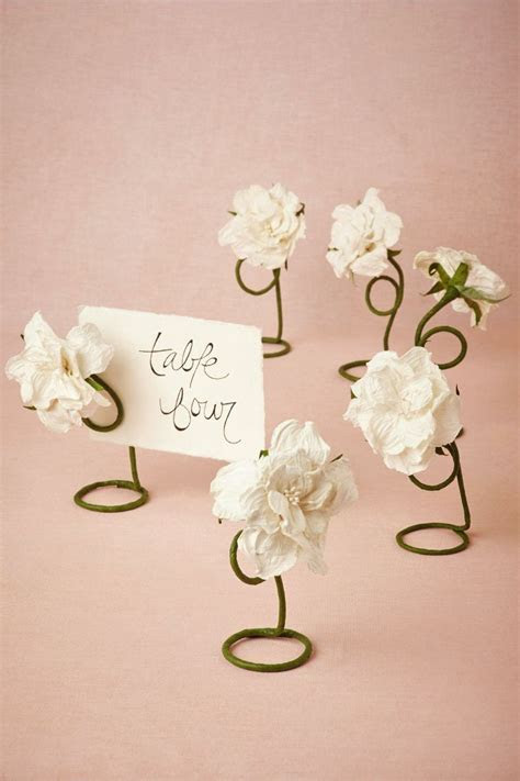 Petaled Place Card Holders (6) from BHLDN   Wedding