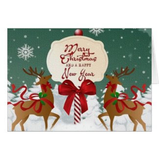 Merry Christmas Custom Greeting Card
