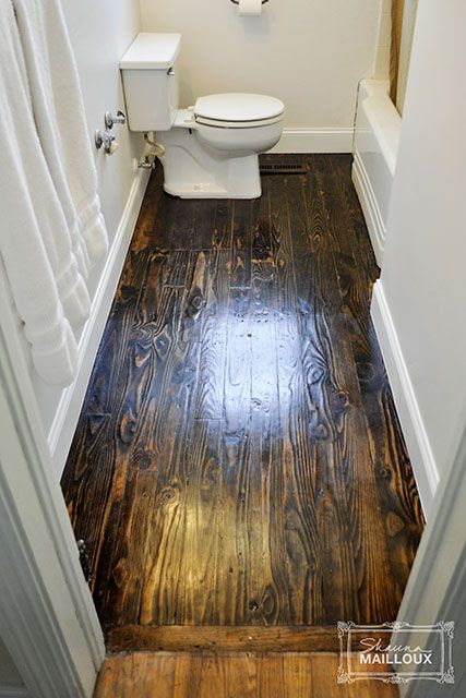 Reclaimed Wood Bathroom Floor | Beautiful Matters
