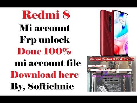 Redmi 8-(olive) mi account free file | Redmi 8 mi account frp unlock by softichnic