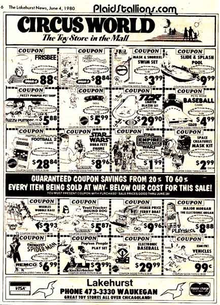 circus world toy ad from 1980 click for a bigger view
