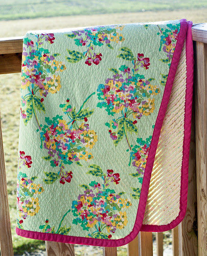 Chenille Backed baby quilt