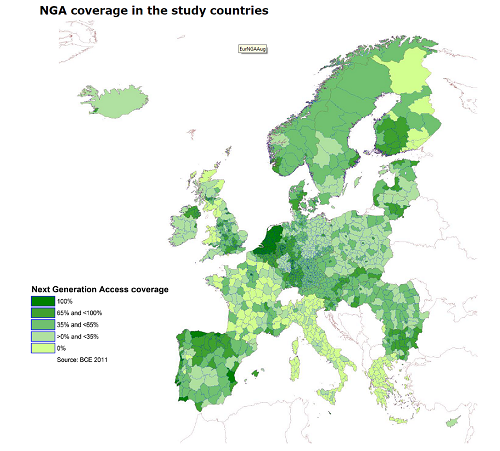 NGA coverage across Europe in 2011