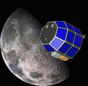 English: LADEE lunar orbiter Deutsch: LADEE Mo...