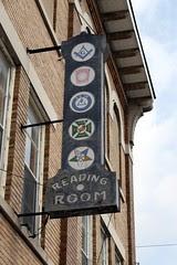 masonic reading room sign