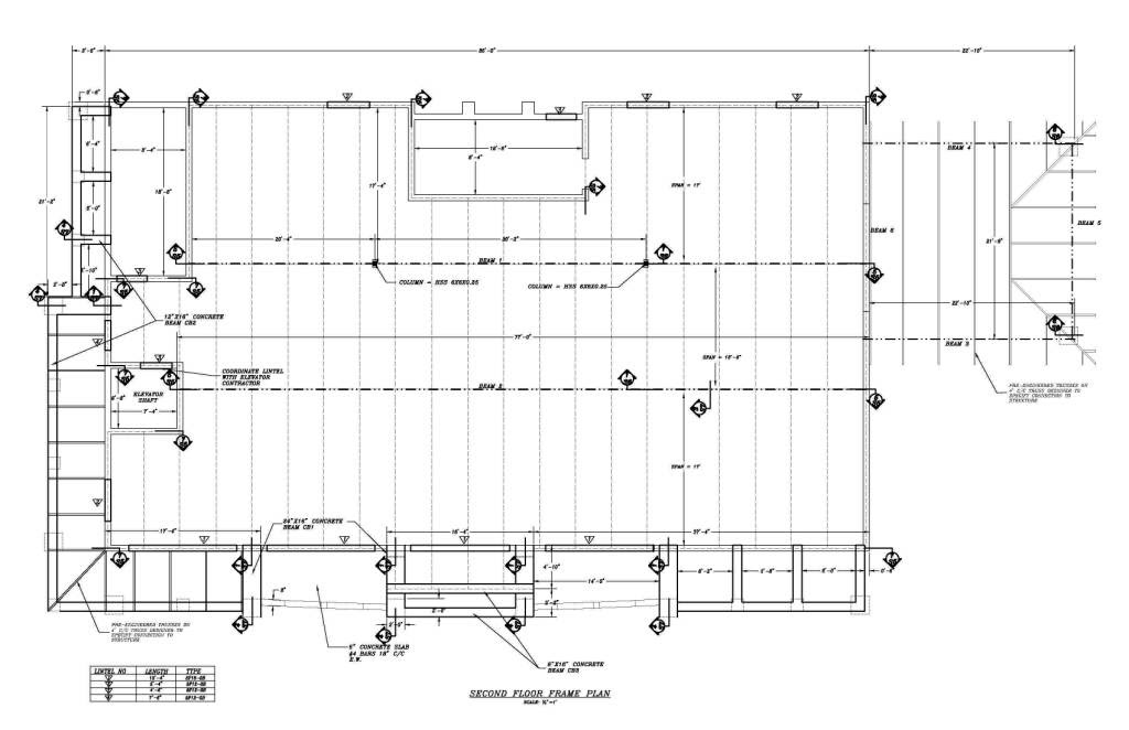 VASANWAR WAP: Reliance Bank, Fort Myers, FL Second Floor Framing Plan
