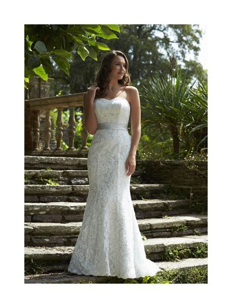 Romantica Seattle Silver Grey Lace Gown With optional Belt