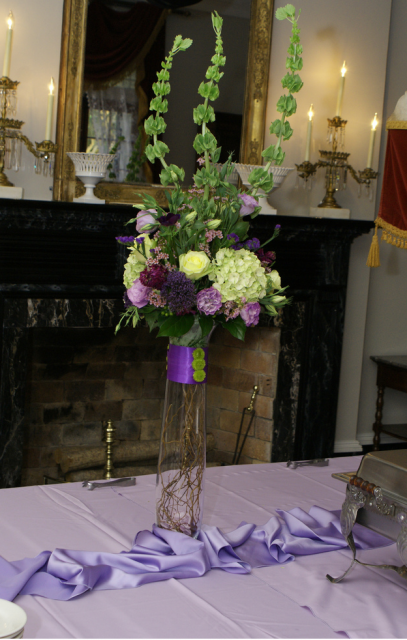 white wedding floral arrangements. Picture of tall wedding