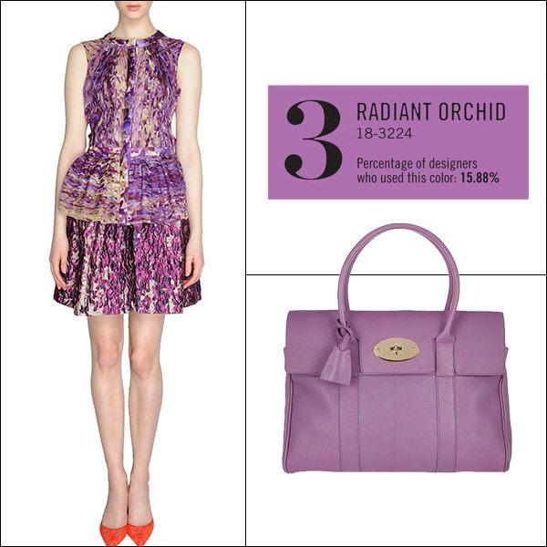 Pantone Color Theory: Shop Spring's Top 10 Hues - Mulberry Bayswater bag #radiantorchid #springwedding #pantoneweddings