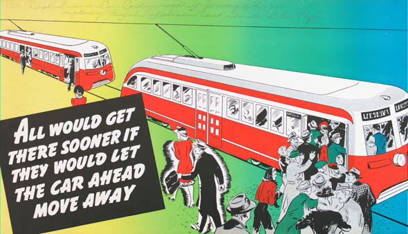 ttc subway cards advertisements move away streetcar