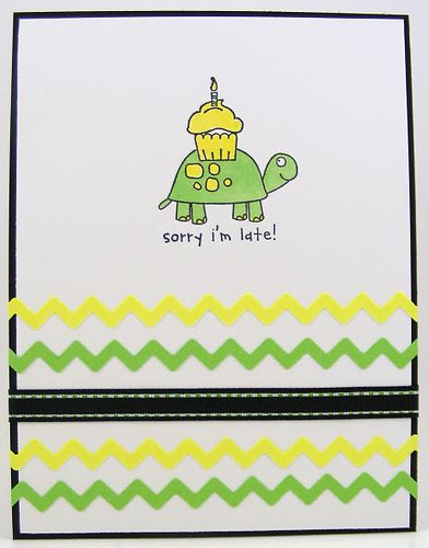 Late Turtle Card