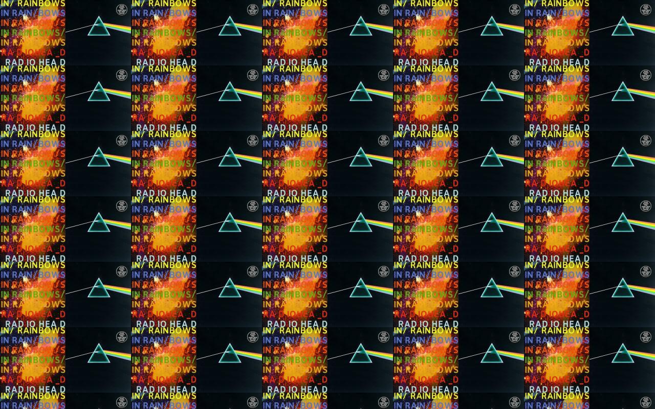 Radiohead In Rainbows Pink Floyd Dark Side Moon Wallpaper Tiled
