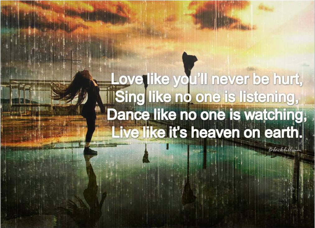Quotes Afbeeldingen Live Like Its Heaven On Earth Hd Achtergrond