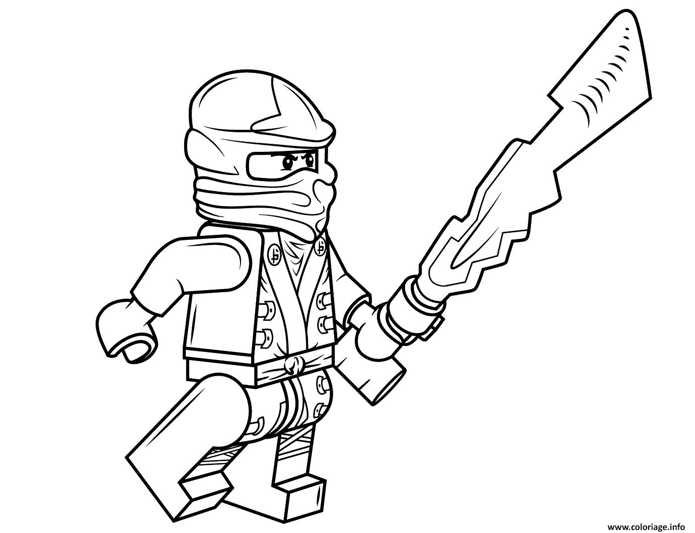 Coloriage Lego Ninjago Cole Jecoloriecom