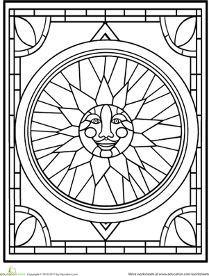 Stained Glass Window | Worksheet | Education.com