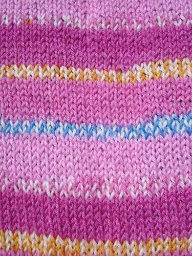 Pink (in)sanity socks WIP (1)