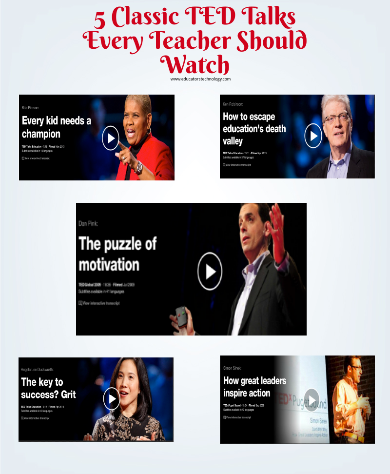 5 Classic TED Talks Every Teacher Should Watch
