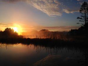 Korsa solnedgång