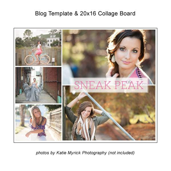 Blog Template And 20x16 Collage Board 04 Magazine Mama