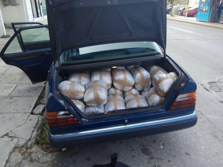 Θεσπρωτία: Αλβανός πιάστηκε με 89 κιλά κάνναβης στο αυτοκίνητο [pics] | Newsit.gr