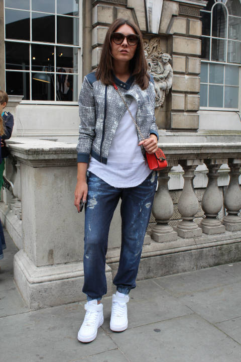 Nicole wears: Trainers: Nike, Bag: Diane Von Furstenberg, Everything else: Jacob Cohen