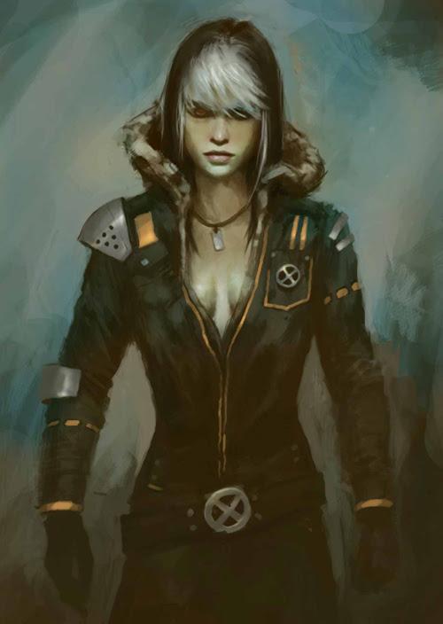 painting Rogue X-men