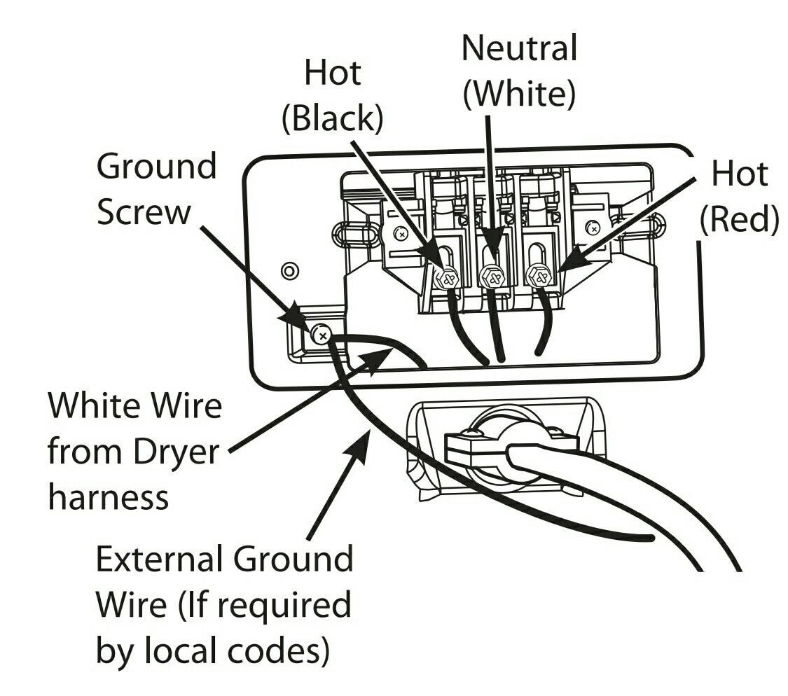 wiring diagram  34 4 wire dryer cord diagram