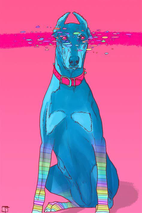 phazed dog trippy psychedelic friend trippy