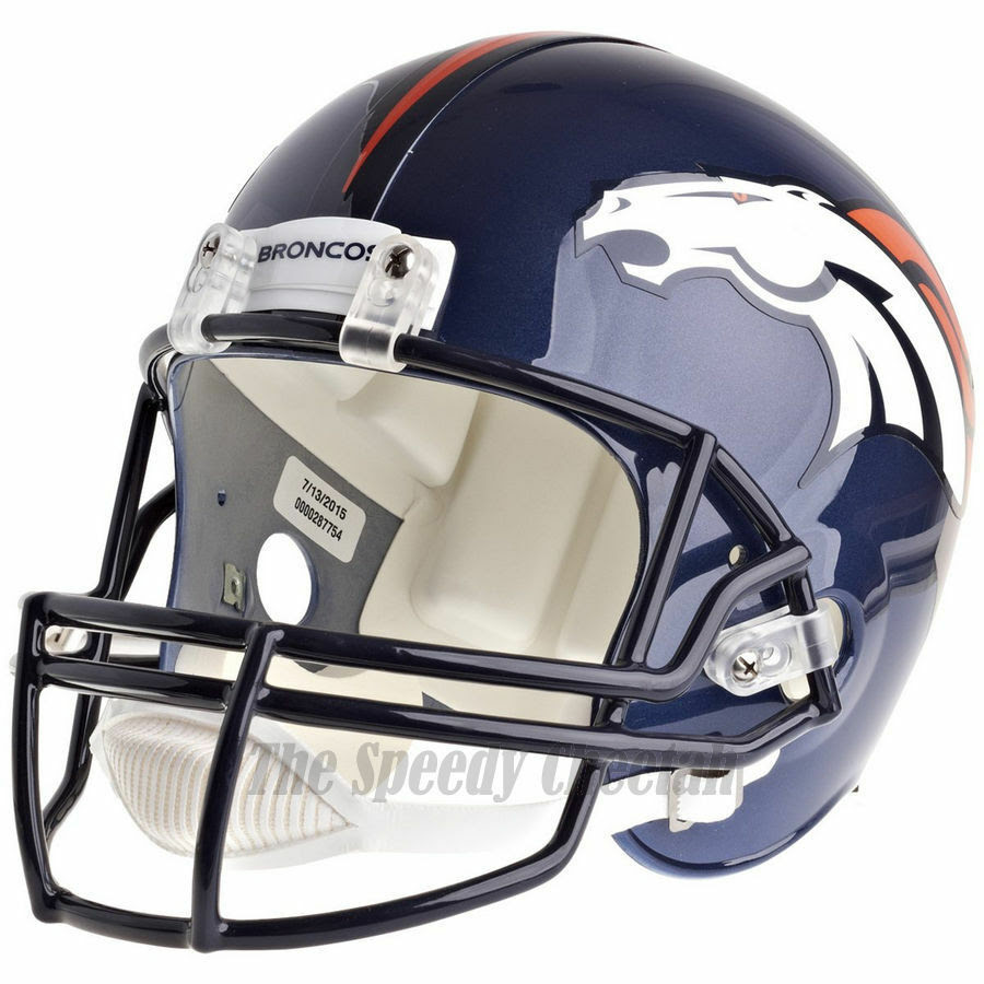 DENVER BRONCOS RIDDELL NFL FULL SIZE REPLICA FOOTBALL HELMET  eBay
